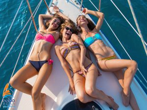 bachelor party on a sailing yacht