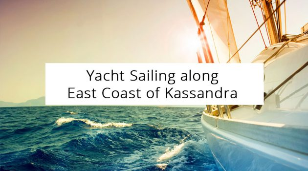 Yacht Sailing along East Coast of Kassandra Peninsula