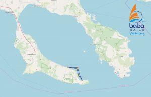 Halkidiki sunset cruise map