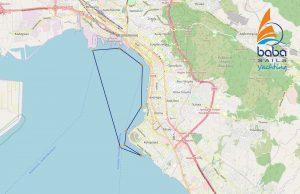 Thessaloniki Sailing Cruise map